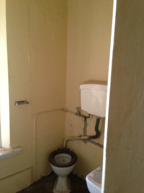 An upstairs toilet in the Elm's