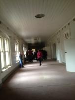 2 floor hallways during the tour