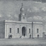 P 17, 1854, Adelaide Post Office, Police Station & Court House with clock to later be Parkside Cl