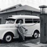 P 19, 1963 1956 Dodge Ambulance being re-filled