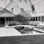 P 26, Admin Building Quadrangle, W aspect, c 1963