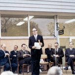 P 28, 1969 June 13, Opening of new Pharmacy, 4L Dr Brian Shea, speaker Hon Ren De Garis, Harry 2