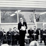 P 28, 1969 June 13, Opening of new Pharmacy, 4L Dr Brian Shea, speaker Hon Ren De Garis, Harry K