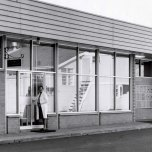 P 28, 1969 June 13, Opening of new Pharmacy, Miss ZM Walsh chief pharmacist entering