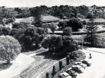 P 40, 1963 Dec 19, Looking SW towards Paterson House with admin wall in foreground