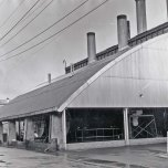 P 45, 1964 Sep 16, Exterior View looking SSW at boiler house section of Laundry