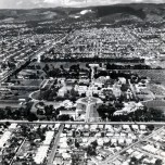 P 7, 1963 Aerial view of Hospital looking E