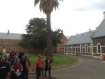 Walk tour in gardens outside mens ward